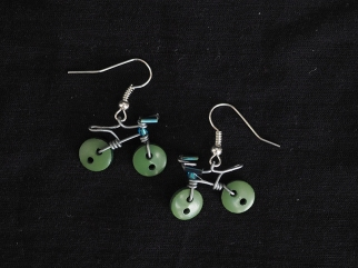 Earring Urbana forestgreen