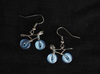 Earring Urbana light blue