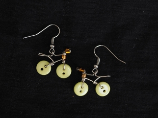 Earring Urbana light yellow